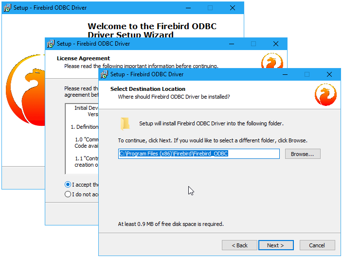Installing the ODBC driver for Windows silently